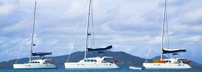 One of the catamaran fleets